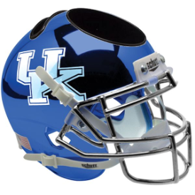 Kentucky Wildcats Chrome Blue Schutt Mini Football Helmet Desk Caddy