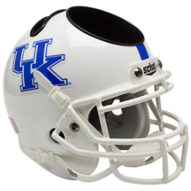 Kentucky Wildcats White Schutt Mini Football Helmet Desk Caddy