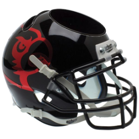 Louisville Cardinals Black Schutt Mini Football Helmet Desk Caddy