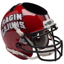 Louisiana Lafayette Ragin Cajuns Schutt Mini Football Helmet Desk Caddy
