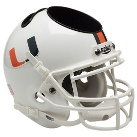 Miami Hurricanes Schutt Mini Football Helmet Desk Caddy