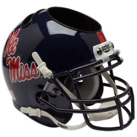Mississippi (Ole Miss) Rebels Schutt Mini Football Helmet Desk Caddy