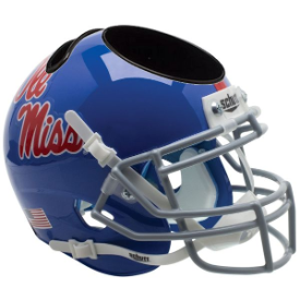 Mississippi (Ole Miss) Rebels Powder Blue Schutt Mini Football Helmet Desk Caddy