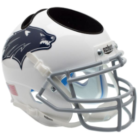Nevada Wolfpack Dark Decal Schutt Mini Football Helmet Desk Caddy
