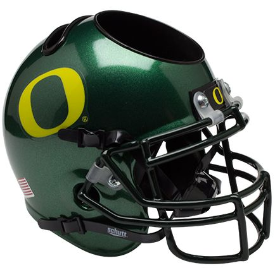 Oregon Ducks Schutt Mini Football Helmet Desk Caddy