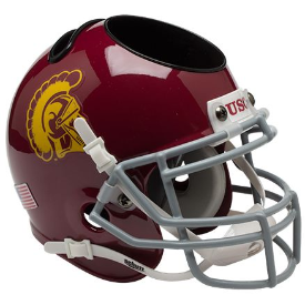 USC Trojans Schutt Mini Football Helmet Desk Caddy