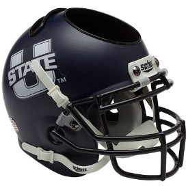 Utah State Aggies Schutt Mini Football Helmet Desk Caddy
