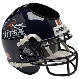 UTSA Roadrunners Schutt Mini Football Helmet Desk Caddy