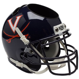 Virginia Cavaliers Schutt Mini Football Helmet Desk Caddy