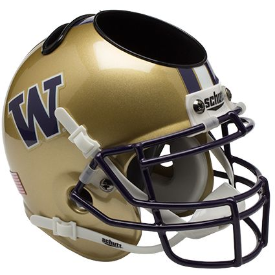 Washington Huskies Schutt Mini Football Helmet Desk Caddy