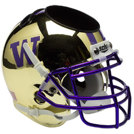 Washington Huskies Chrome Schutt Mini Football Helmet Desk Caddy