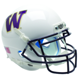 Washington Huskies White Schutt Mini Football Helmet Desk Caddy