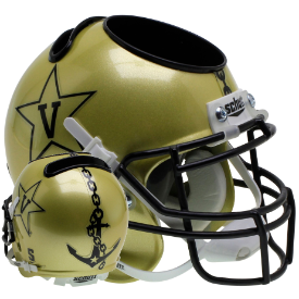 Vanderbilt Commodores Gold Schutt Mini Football Helmet Desk Caddy