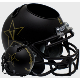 Vanderbilt Commodores Matte Black w/Anchor Schutt Mini Football Helmet Desk Caddy