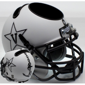 Vanderbilt Commodores Matte White w/Anchor Schutt Mini Football Helmet Desk Caddy