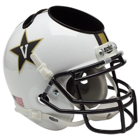 Vanderbilt Commodores White Schutt Mini Football Helmet Desk Caddy