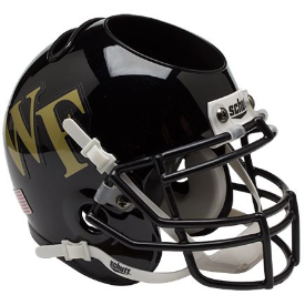 Wake Forest Demon Deacons Schutt Mini Football Helmet Desk Caddy