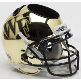 Wake Forest Demon Deacons Chrome Schutt Mini Football Helmet Desk Caddy