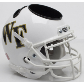 Wake Forest Demon Deacons White Schutt Mini Football Helmet Desk Caddy