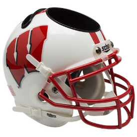 Wisconsin Badgers Schutt Mini Football Helmet Desk Caddy