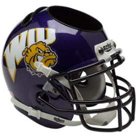 Western Illinois Leathernecks Schutt Mini Football Helmet Desk Caddy