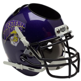 Western Illinois Leathernecks Marines Schutt Mini Football Helmet Desk Caddy