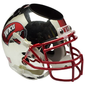 Western Kentucky Hilltoppers Chrome Schutt Mini Football Helmet Desk Caddy
