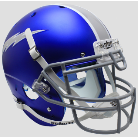 Air Force Falcons Satin Blue Schutt XP Authentic Full Size Football Helmet