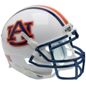 Auburn Tigers Chrome Mask Schutt XP Authentic Full Size Football Helmet