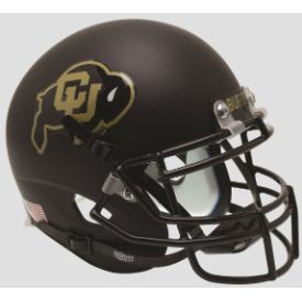 Colorado Buffaloes Black Schutt XP Authentic Full Size Football Helmet