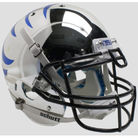 Memphis Tigers Chrome w/Blue Stripes Schutt XP Authentic Full Size Football Helmet