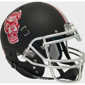 North Carolina State Wolfpack Matte Black Schutt XP Authentic Full Size Football Helmet