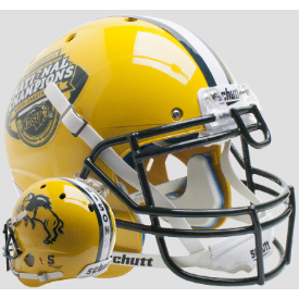 North Dakota State Bison Gold National Champs Schutt XP Authentic Full Size Football Helmet