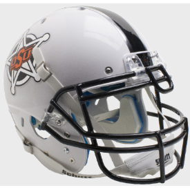 Oklahoma State Cowboys White Badge Schutt XP Authentic Full Size Football Helmet