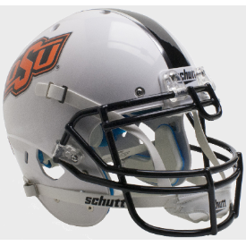 Oklahoma State Cowboys WH/BK/GY Schutt XP Authentic Full Size Football Helmet