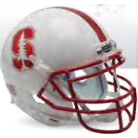 Stanford Cardinal Chrome Mask and Decal Schutt XP Authentic Full Size Football Helmet