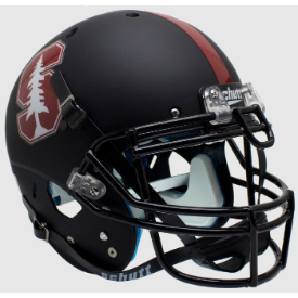 Stanford Cardinal Matte Black Tree Schutt XP Authentic Full Size Football Helmet