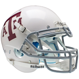 Texas A&M Aggies White Gray Mask Schutt XP Authentic Full Size Football Helmet