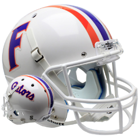 Florida Gators White Schutt XP Authentic Full Size Football Helmet