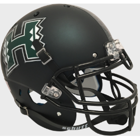 Hawaii Warriors Matte Dark Green Schutt XP Authentic Full Size Football Helmet