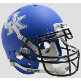Kentucky Wildcats Matte Royal Blue Schutt XP Authentic Full Size Football Helmet