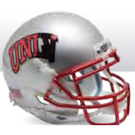 UNLV Runnin' Rebels Chrome Mask Schutt XP Authentic Full Size Football Helmet