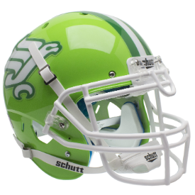 North Texas Mean Green Flying Worm Schutt XP Authentic Full Size Football Helmet