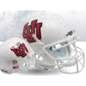 Utah Utes White UU Schutt XP Replica Full Size Football Helmet