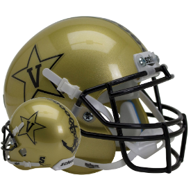 Vanderbilt Commodores Gold Schutt XP Authentic Full Size Football Helmet