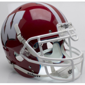 Wisconsin Badgers Red w/White Mask Schutt XP Authentic Full Size Football Helmet