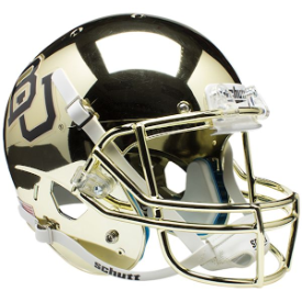 Baylor Bears Gold Chrome Schutt XP Replica Full Size Football Helmet