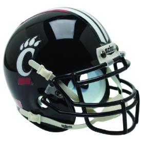Cincinnati Bearcats Black w/Stripe Schutt XP Replica Full Size Football Helmet