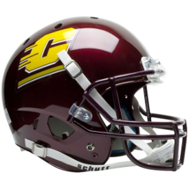 Central Michigan Chippewas Schutt XP Replica Full Size Football Helmet