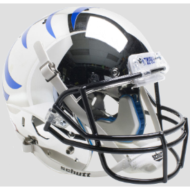 Memphis Tigers Chrome w/Blue Stripe Schutt XP Replica Full Size Football Helmet